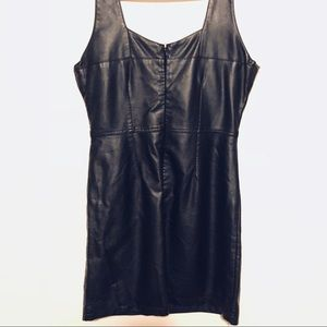 Charlotte Russe Dresses - ❤️ Charlotte Russe Faux Leather Dress